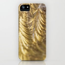 Golden World Ice flowers pictures iPhone Case