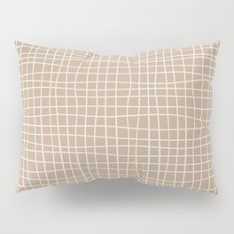 White and Brown Weave Pattern Pillow Sham