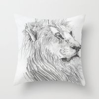 leon Throw Pillows featuring Leon by Amy Lawlor Creations