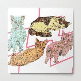 Razz Cats Metal Print