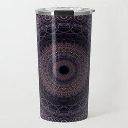 Mandala in cherry and plum tones Travel Mug