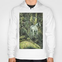 pixies Hoodies featuring Unicorn & Pixies by Mike Lowe