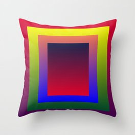 Color Shades by MRT Throw Pillow
