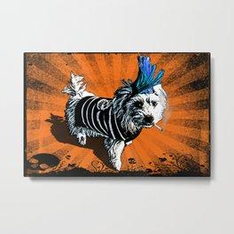 Puppy Punk Metal Print