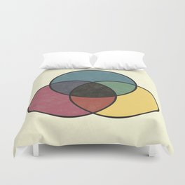 Matthew Luckiesh: The Subtractive Method of Mixing Colors (1921), vintage re-make Duvet Cover