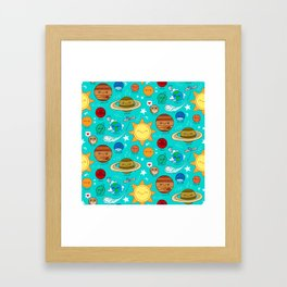 Planet party Framed Art Print