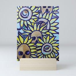 S is for Sunflowers and Skulls Mini Art Print