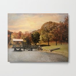Dock for Two Metal Print