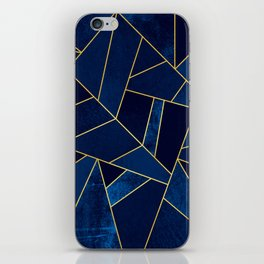 Blue stone with yellow lines iPhone Skin