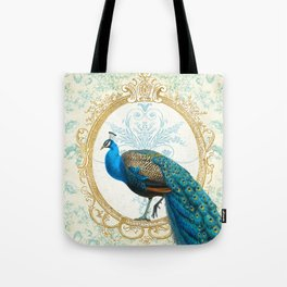 Paris Peacock Tote Bag