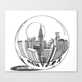 New York in a glass ball . Art . Canvas Print