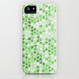 Pattern Mosaic Serie green iPhone Case