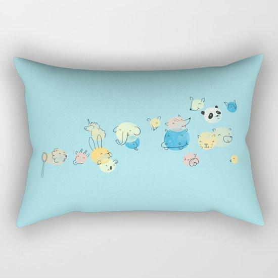Bubble Animals Rectangular Pillow