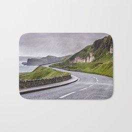 Windy road,Dunluce castle,Ireland,Northern Ireland Bath Mat