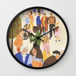 We Live Together Wall Clock