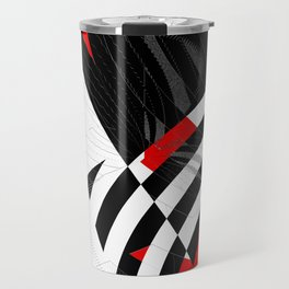 black and white meets red Version 8 Travel Mug