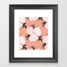 Sparkling Rosé - soft coral Framed Art Print