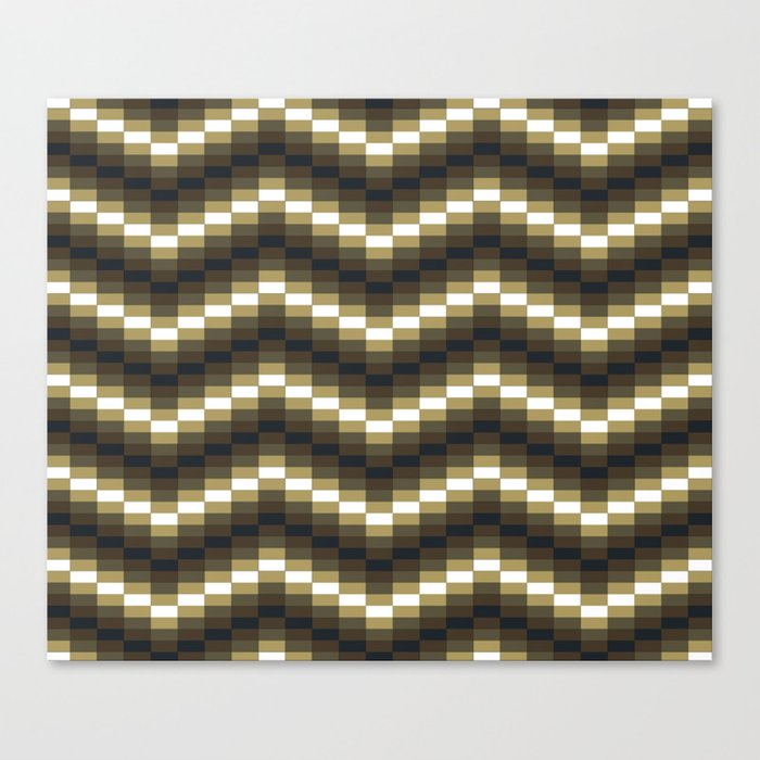 Block Wave Illustration Artwork Canvas Print