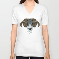 ram V-neck T-shirts featuring Ram by Compassion Collective