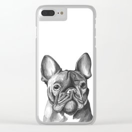 French Bulldog Drawing Clear iPhone Case