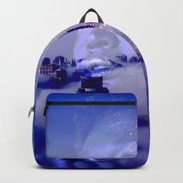 Purple portrait architecture Backpack