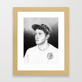 Alfie Deyes/Pointlessblog Framed Art Print