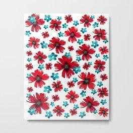 Carnations & Columbines Metal Print