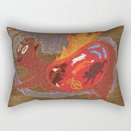 BEAST EATING MONSTER  Rectangular Pillow