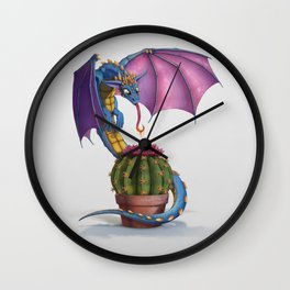 Cactus-flower Dragon Wall Clock