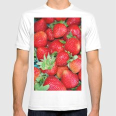 Strawberries Mens Fitted Tee 2X-LARGE White