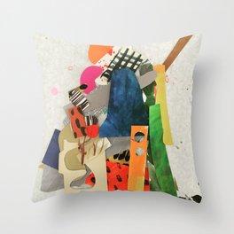 Sunset Mountain Paper Pile Throw Pillow