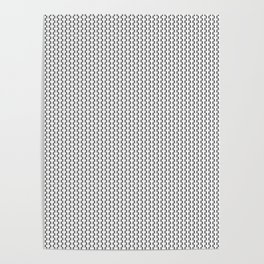 Black and White Basketweave Circles Shapes 2 Poster