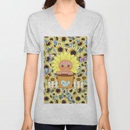 Sunflower Baby Unisex V-Neck