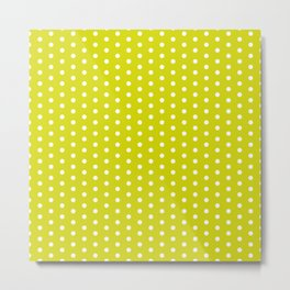 SWISS DOT ((chartreuse)) Metal Print