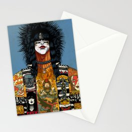 Portrait of Nikki Sixx Stationery Cards