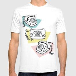 Retro phones T-shirt