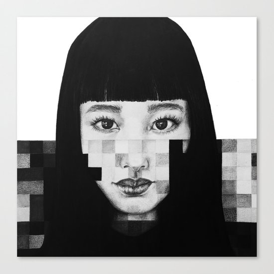 Pixel Girl Canvas Print