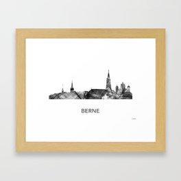 Berne Switzerland Skyline WB BW Framed Art Print