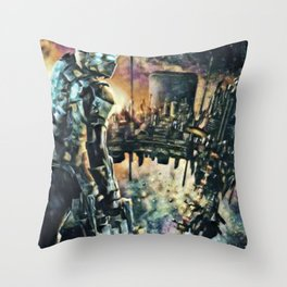 Dead Space Defensive Isaac Artistic Illustration Space Style Throw Pillow