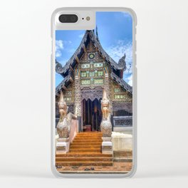Chiang Mai Thailand Buddhist Temple Clear iPhone Case