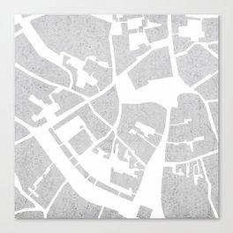Vilnius map concrete Canvas Print
