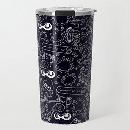 Splats 'n Guns (Black) Travel Mug