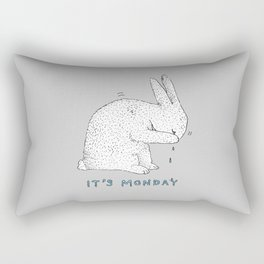 Monday Tears Rectangular Pillow