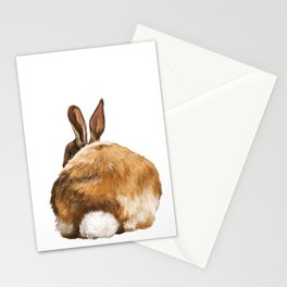 Rabbit Butt Stationery Cards