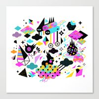 gravity Canvas Prints featuring Gravity by Muxxi
