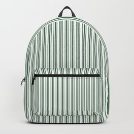 Classic Small Green Boot Green French Mattress Ticking Double Stripes Backpack