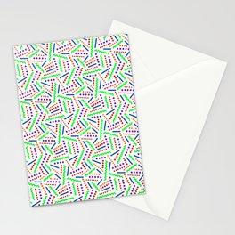 Zig Zag Memphis Pattern Stationery Cards