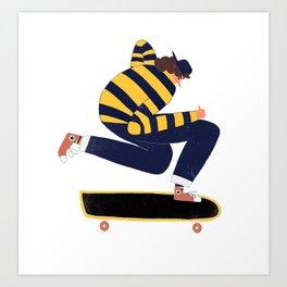 Skateboarder. Art Print
