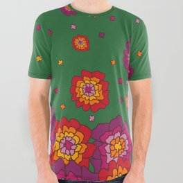 Retro Blooming All Over Graphic Tee