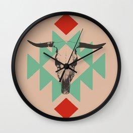 Southwest long horn Wall Clock
